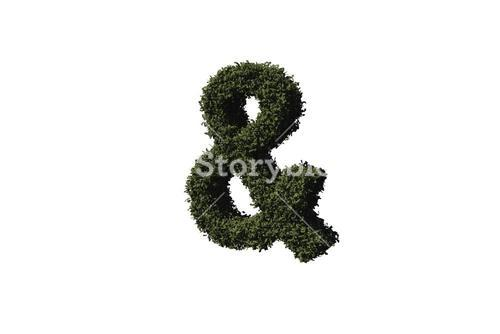 Ampersand made of leaves