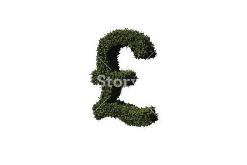 Pound sign made of leaves