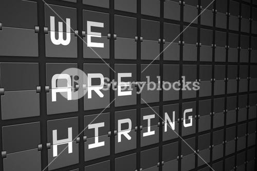 We are hiring on black mechanical board
