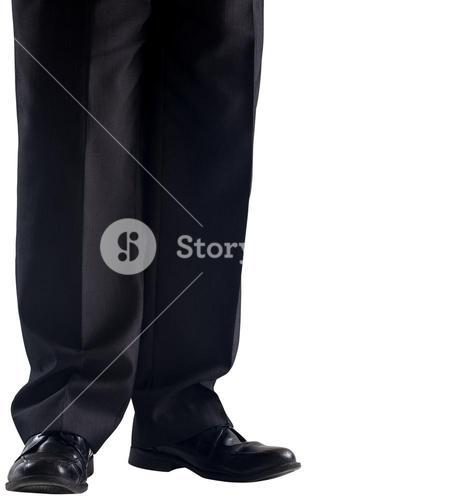 Businessmans legs and dress shoes