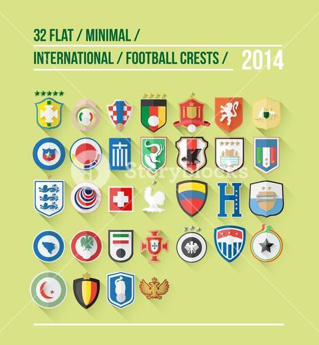 International football crest vector for 2014