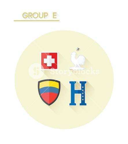 Group e with country crests