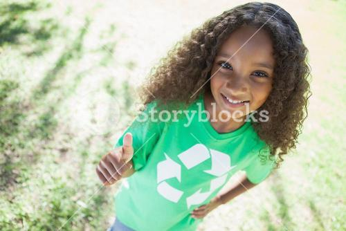 Young environmental activist smiling at the camera