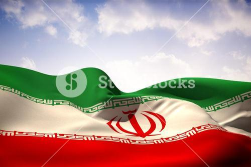 Iran flag waving
