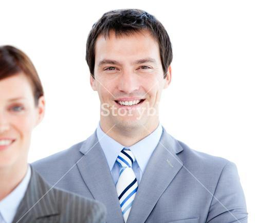 Portrait of a smiling business colleagues