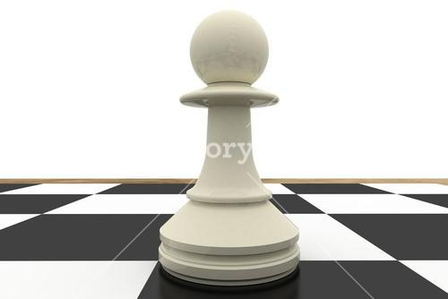 White pawn on chess board