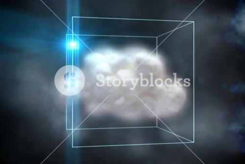 Cloud computing concept in box