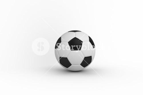 Black and white leather football