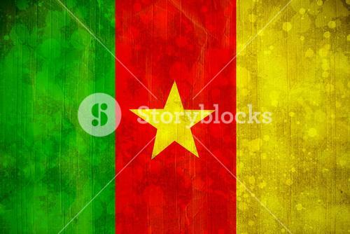 Cameroon flag in grunge effect