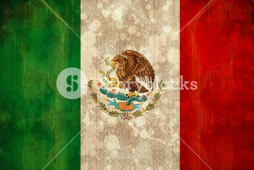 Mexico flag in grunge effect