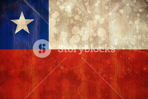 Chile flag in grunge effect