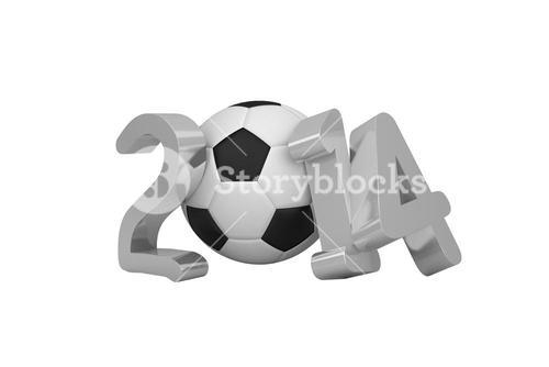 World cup 2014 with black and white ball