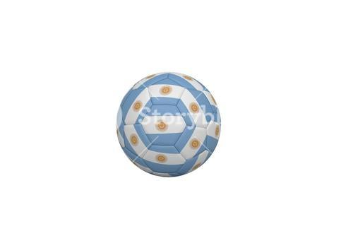 Football in argentinian colours
