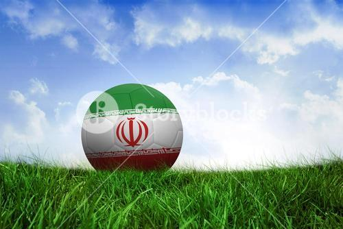 Football in iran colours
