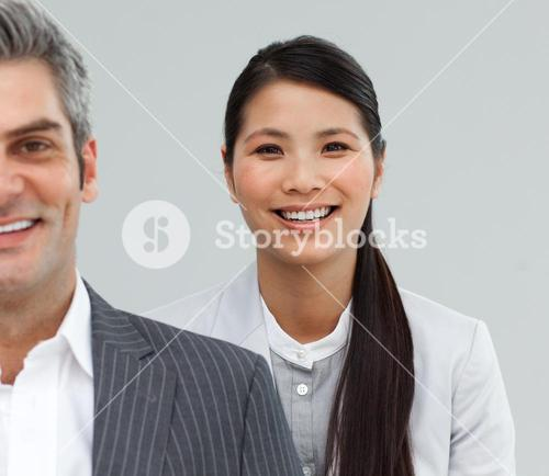 Close up of Business people standing together