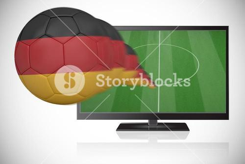Football in germany colours flying out of tv