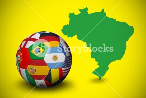 Football in multi national colours