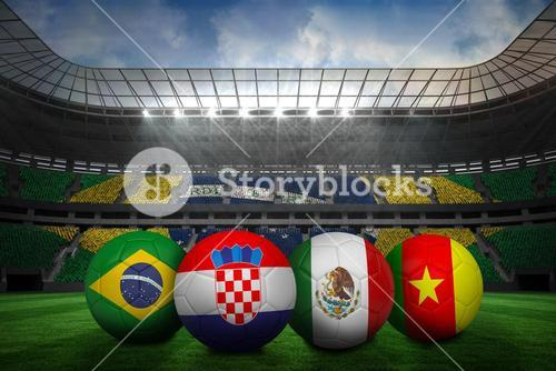 Group a world cup footballs
