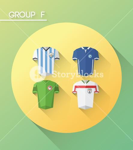 World cup group f vector with jerseys