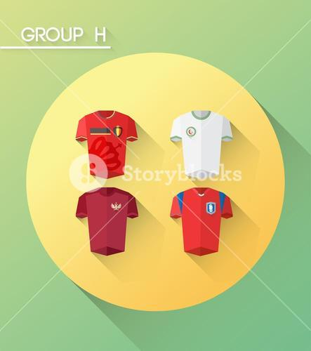 World cup group h vector with jerseys