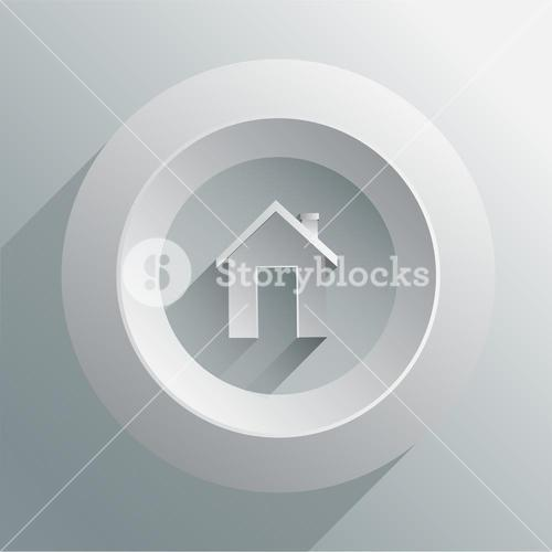 House vector in grey with circle