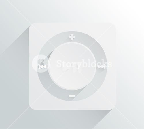 Music player vector in grey and white