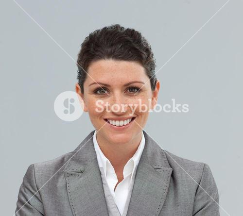 Portrait of a smiling young buinesswoman standing