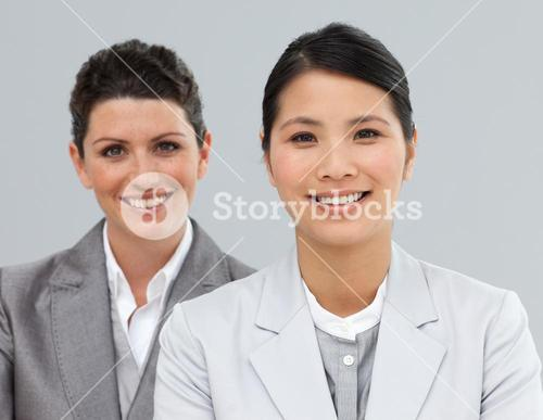Attractive Business people in a line