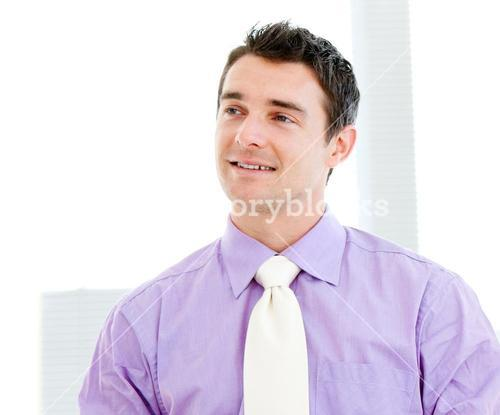 Selfassured businessman smiling