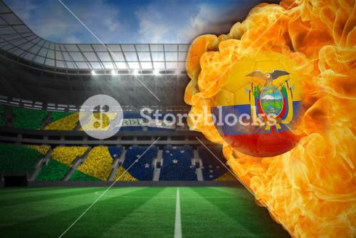 Fire surrounding ecuador flag football