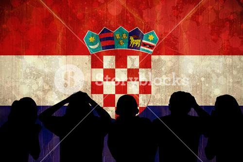 Silhouettes of football supporters