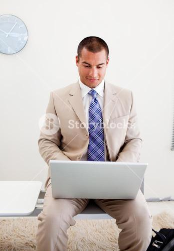 Young businessman waiting for an interview