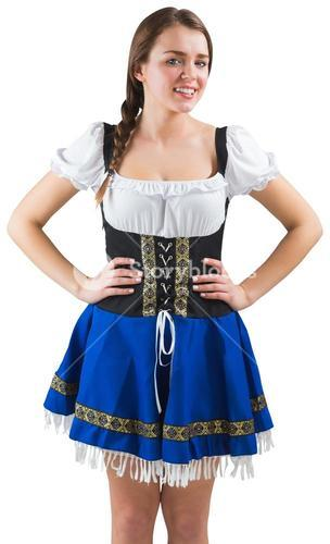 Pretty oktoberfest girl with hands on hips