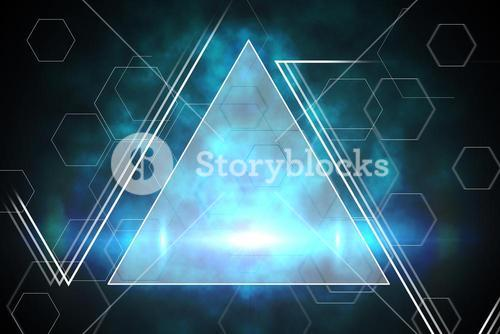 Blue and black triangle design
