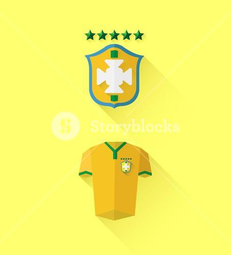 Brasil jersey and crest vector