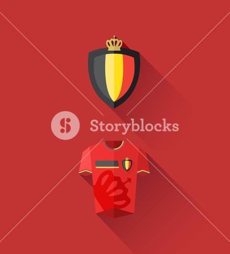 Belgium jersey and crest vector