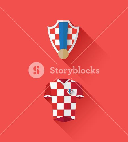 Croatia jersey and crest vector