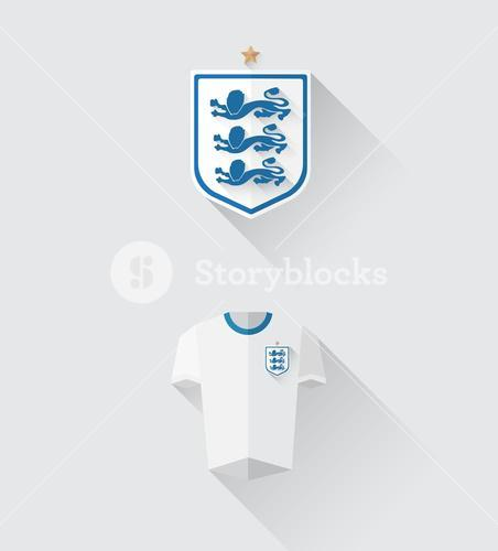England jersey and crest vector