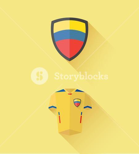 Ecuador jersey and crest vector