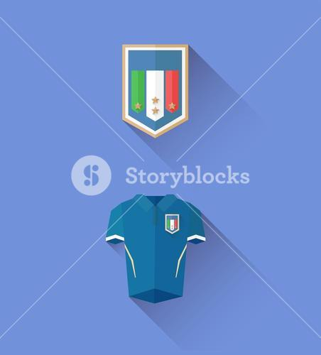 Italy jersey and crest vector