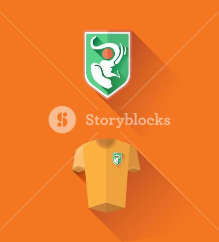 Ivory coast jersey and crest vector