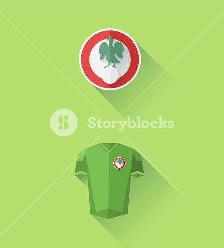 Nigeria jersey and crest vector