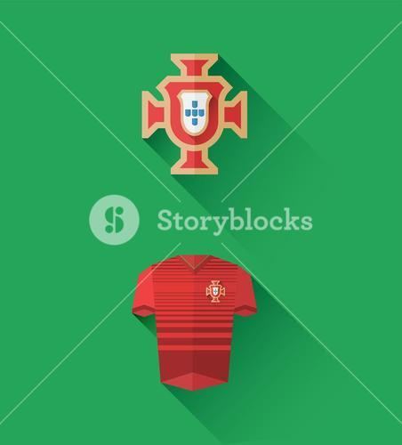 Portugal jersey and crest vector