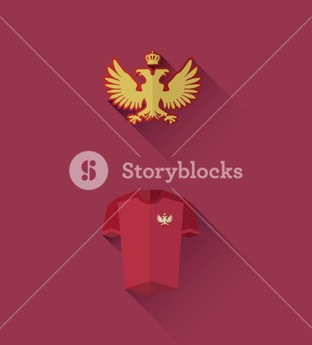 Russia jersey and crest vector