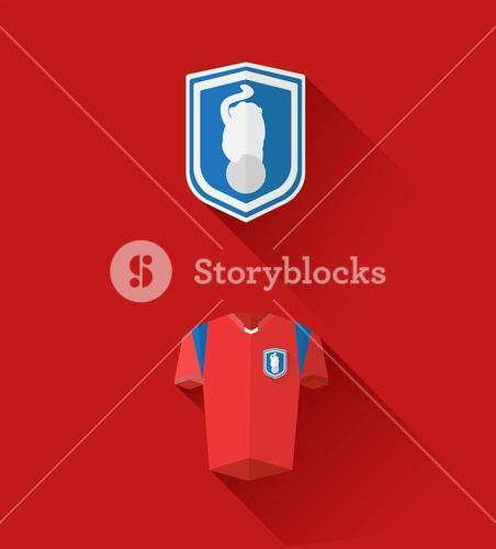 Korea republic jersey and crest vector