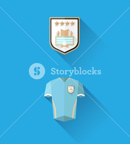 Uruguay jersey and crest vector