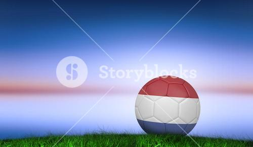 Composite image of football in holland colours