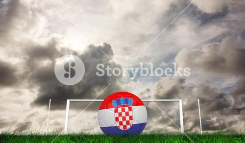 Composite image of football in croatia colours