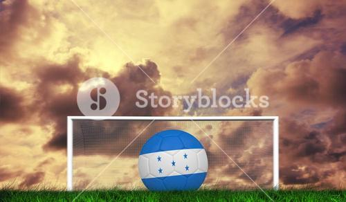 Composite image of football in honduras colours
