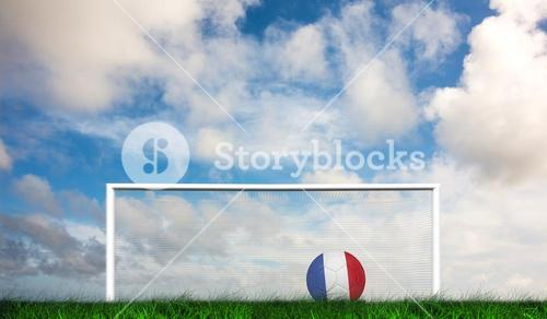 Composite image of football in france colours